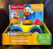 Rare Bouncing Donald Duck Magic Of Disney Fisher Price Little People New