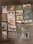 Large Lot Of 20 Vintage Postcards - A Lot From 1903-1912 Unposted