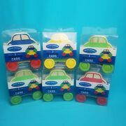 Wooden Stacking Cars 2 Pack 12pc Set Wood Works Toy 12m+
