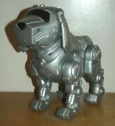 Kid Tekno Toy Quest Motion Interactive Robot Puppy Dog Silver Manley Vtg 1990s
