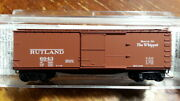 Mtl Micro Trains 39130 Rutland 40' Wood Boxcar 6043 Route Of The Whippet
