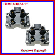 2pc Ignition Coil Ufd300 For 1991 1992 1993 1994 1995 1996 Ford Escort L4 1.9l