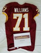 71 Trent Williams Of Redskins Nfl Game Worn And Unwashed Jersey Vs. Eagles Wcoa