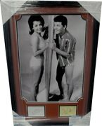 Annette Funicello Frankie Avalon Signed Auto Cut Framed W/ Photo Beach Party Bas