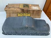 1937-39 Gm All Oil Pan 22 Holes W/pipes And Troughs Nos