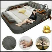 Europe And America Fabric Cloth Bed Massage Modern Soft Beds Home Bedroom Furnit