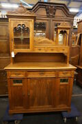 Fine Antique Continental Carved Serving Display Cabinet Ca. 1890
