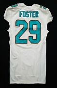 29 Arian Foster Of Miami Dolphins Nfl Game Issued Locker Room Jersey