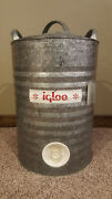 Vintage Igloo 5 Gallon Galvanized Water Cooler Perm-a-lined