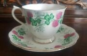 Vintage Royal Albert Lucky Clover Bone China Footed Cup And Saucer