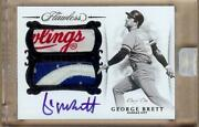 2018 Flawless George Brett Auto Dual Game Used Logo Patch 1/1 Wow