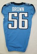 56 Brown Of Tennessee Titans Nfl Game Issued Locker Room Jersey