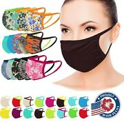 Face Mask Washable Facemask Mouthmask Dry Quickly Pocket For Filter Made In Usa
