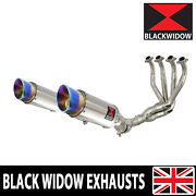 Z1000 Z 1000 Sx 10-19 4-2 De Cat Exhaust System Round Stainless Silencers Sl20r