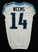 14 Eric Weems Of Tennessee Titans Nfl Game Issued Jersey