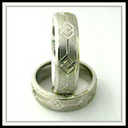 18 Kt Solid White Gold Wedding Band Custom Made For Men And Ladies / De 0006 /