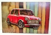 Pg1388 Retro Mini 3d Hand Crafted And Hand Painted Metal Wall Art By Primus