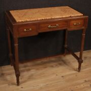 Table Writing Desk Furniture In Inlaid Wood Marble Top Antique Style 900