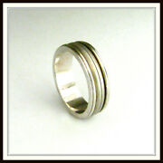 18 Kt Solid White Gold Wedding Band Custom Made For Men And Ladies / De 0027 /