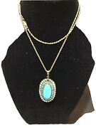 Regal Antique Victorian 14 K.- Pearl Turquoise Necklace