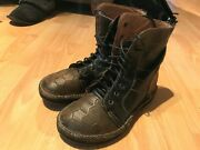 Vtg Rare Mike Konos Italy Punk Steampunk New Wave Funky Mens Boots Sz 9