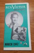 Old Vintage Rca Victor Popular Records March 1947 Musicians Buyer Guide