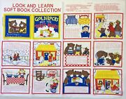 Goldilocks And The Three Bears Fabric Soft Book Craft Panel Look And Learn Vtg