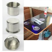 Stainless Steel Recessed Cup Drink Holder Boat Marine Rv Camper Accessory