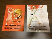 12/16/1956 Nfl Program Los Angeles Rams Vs Green Bay Packers Great Condition