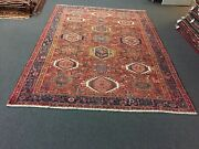 Onsale Antique Hand Knotted Vintage Serapi Herizz Area Rug Geometric 8and039x11and0391788
