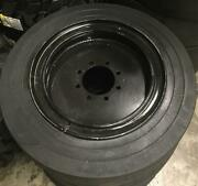 4- Tires With Wheels 34x12-20 / 12-16.5 Solid Smooth Skid-steer Loader Tire