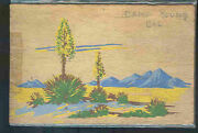Pc9200 Postcard Yucca Wood Camp Young California Postally Used 1942 Free Postage