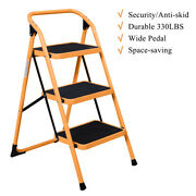 3 Steps Ladder Folding Non Slip Safety Tread Industrial Home Use 330lbs Load