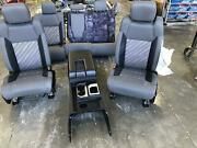 2016-2018 Toyota Tundra Front Rear Seat Console Power Cloth Sr5 Grey