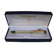 Waterman Le Man Ballpoint Pen Sterling Silver And Gold New In Box  S0107790