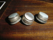 Vintage Trumpet Valve Buttons Silver And Pearl Matching Set