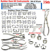 Rubber Dam Ainsworth Hole Punch Pliers Ivory Light Brewer Binker Clamps Frames