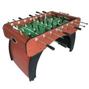 Foosball Table Indoor Game Room Home Play Auto Ball Return Manual Scorer 54 Inch