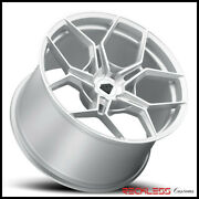Blaque Diamond 22 Bd-f25 Silver Concave Wheel Rims Fits Cadillac Cts Coupe