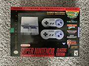 Snes Super Nintendo Entertainment System Classic Edition New Fast Free Shipping