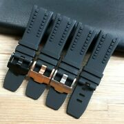 28mm Black Rubber Silicone Watch Band Strap For Ap Audemars And Piguet Royol Oak