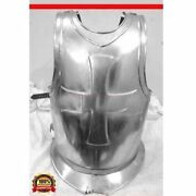 Halloween Knights Templar Crusaders Armor Point Mans Cuirass Front And Back Cross