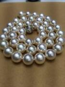Huge 1813-14mm Natural South Sea Genuine White Round Pearl Necklace 14k