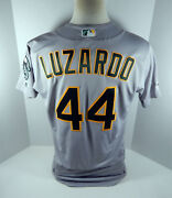 2019 Oakland A's Athletics Jesus Luzardo 44 Game Issued Grey Jersey 150 Patch