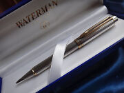 Waterman Limited Edition Le Man Sterling Silver Ballpoint Pen New In Box