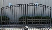 Dual Swing Driveway Gate 13and039 X 6and039 - Black