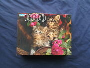 Vintage Kittens Cats 1000 Piece Guild Jigsaw Puzzle 2000 Hasbro Usa Sealed New