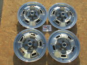 1967 68 69 Plymouth Barracuda Valiant 14 Wheel Covers Hubcaps Set Of 4 Rare