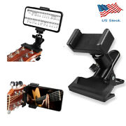 Guitar Headstock Mobile Phone Holder Bracket Stand Cell Phone Clip Clamp