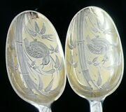 Aesthetic Antique Cased Sterling Silver Serving Spoons, Marmaduke Daintrey 1744